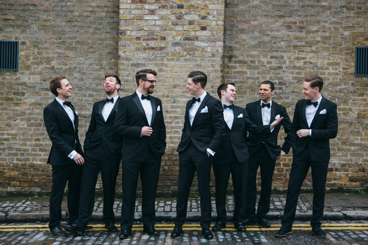 Wedding photographer London Groomsmen
