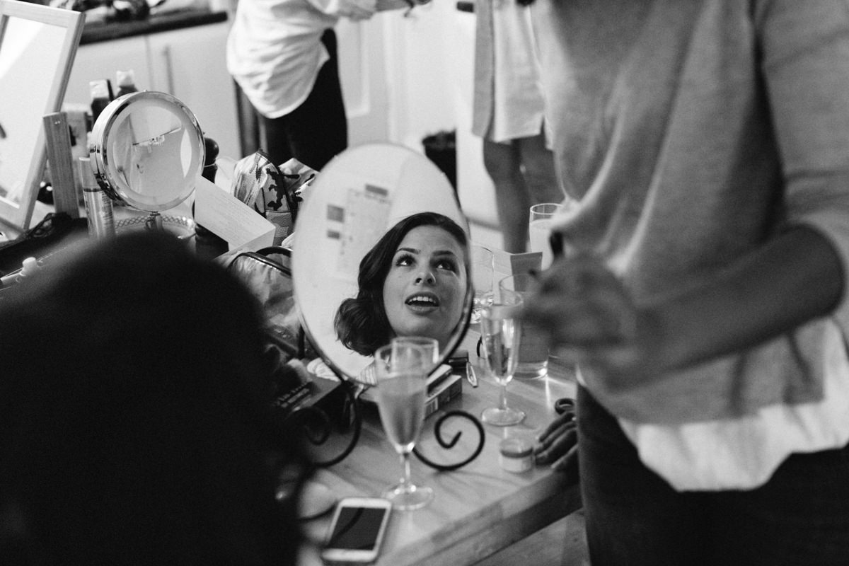 Wedding photographer London Bride preparation