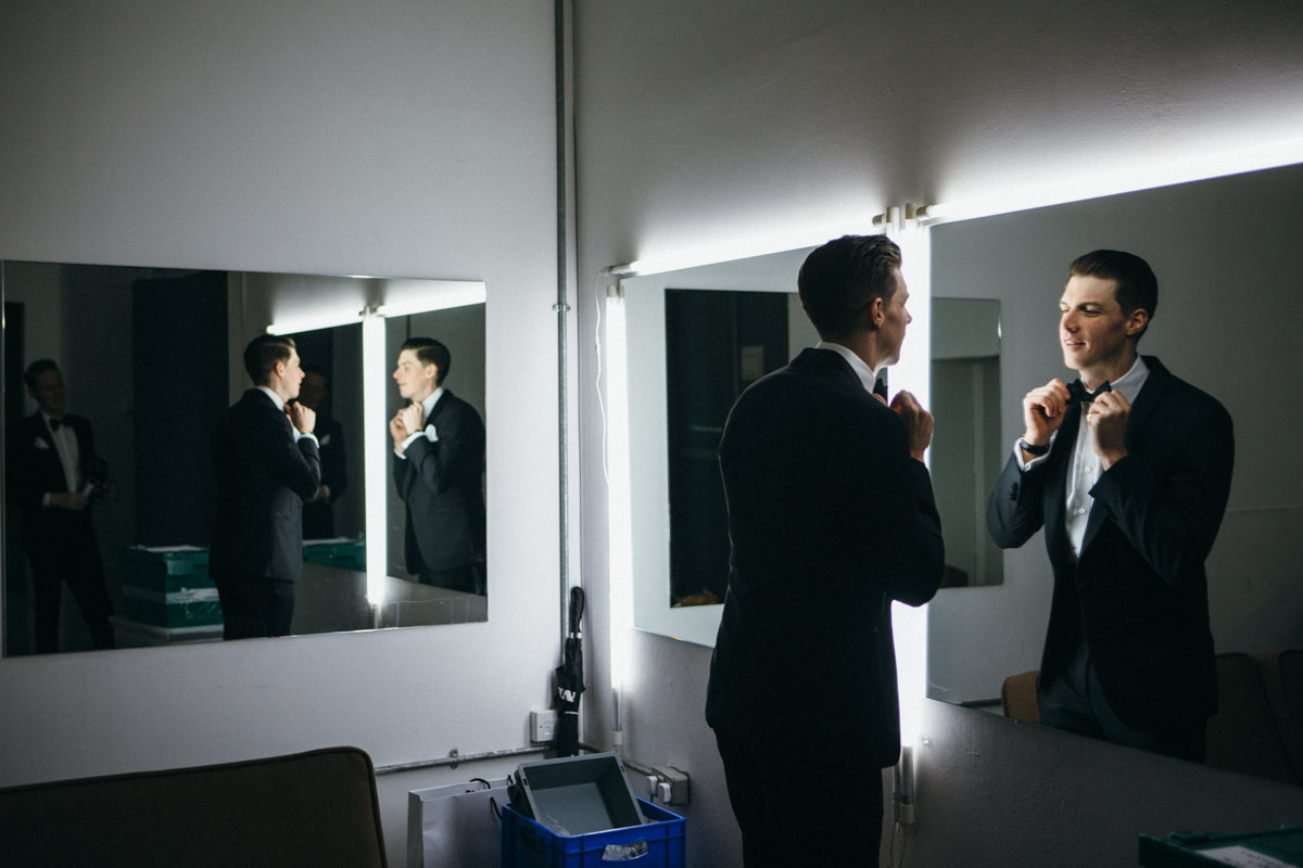 Wedding photographer London Groom preparation